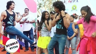 Tiger Shroff Shows Off His Moves At Lokhandwala Street Festival