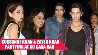 Sussanne Khan and Zayed Khan Parties At Su Casa Bar