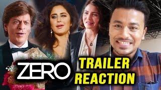ZERO TRAILER REACTION | REVIEW | 5/5 STARS | Shahrukh, Katrina, Anushka