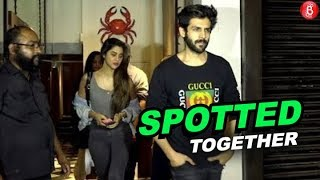 Kartik Aaryan Caught With His Girlfriend At Restaurant | Kartik Aaryan | Bollywood | News