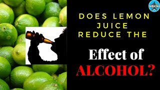 Does Lemon Juice Reduce The Effect Of Alcohol? | Dada Bartender | Alcohol & lemon Juice |