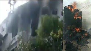 Khan Latif Khan Estate Mein Lagi Aag Aur Shastripuram Par Ek Lorry Mein Lagi Aag.