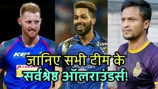 IPL 2019: All Teams Best All-rounder In IPL 2019 | Cricket News Today