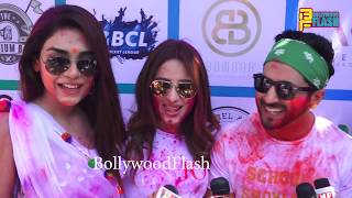 Kum Kum Bhagya Team Ekta Kapoor's Holi Celebration 2019 At Lokhandwala Celebration Club