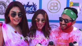 Kum Kum Bhagya Team Ekta Kapoor's Holi Celebration 2019 At Lokhandwala Celebration Club