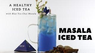 Butterfly Pea Ice Tea | Blue Tea Indian Chai masala Iced Tea | Blue Iced Tea | Dada Bartender