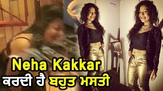 Neha Kakkar doing 'Masti' in Studio | Dainik Savera