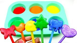 Learn Colors With Play doh Coloring And Cutting Toy Shapes - Learn Animals And Shape Toys For Kids.