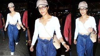 Beautiful Shraddha Kapoor Spotted In Funky Look At Mumbai Airport