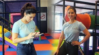 Sunny Leone In Her New Venture D'art Fusion Art And Play Centre