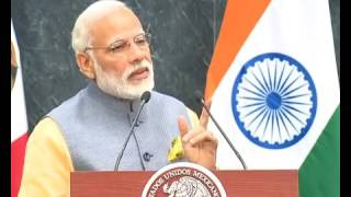 PM Modi's address at the Joint Press Statements in Mexico City, Mexico | PMO
