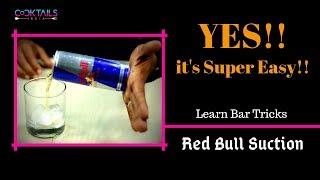 Easy Bar Tricks RED BULL SUCTION In Hindi   Bar Tricks in Hindi   Learn Bartending   Dada Bartender