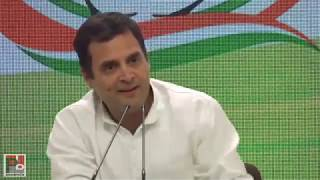 Congress President Rahul Gandhi addresses media after his last rally for 2019 Lok Sabha elections