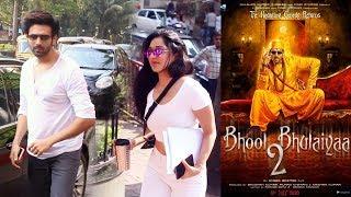 Kartik Aaryan And Kiara Advani Spotted At Anees Bazmee Office For Metting For Bhul Bhulaiya 2