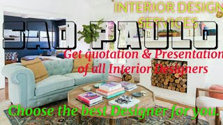 SAO PAULO   INTERIOR DESIGN SERVICES 》 QUOTATION AND PRESENTATION ♡Living Room ♧Tips ■Bedroom □■♤●•♡