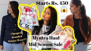 HUGE MYNTRA WINTER WEAR HAUL | Myntra Shopping Haul | Winter Wear Clothes Haul | Myntra Winter Wear