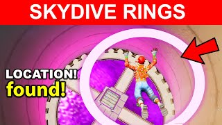 Skydive Through Rings in Steamy Stacks Location Fortnite
