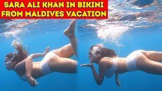 Sara Ali Khan Underwater Swimming In Bikini From Maldives Vacation | Sara Ali Khan Holiday
