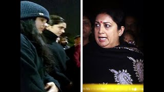 Deepika Padukone has every right to stand with 'tukde tukde gang': Smriti Irani