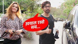 Gurmeet Choudhary Ne Media Se Kahi Ye Baat, Gurmeet & Aarti Singh Spotted At Lokhandwala