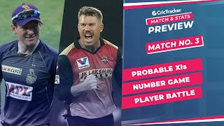 IPL 2021: Match 3, SRH vs KKR Predicted Playing 11, Match Preview & Head to Head Record - April 11th