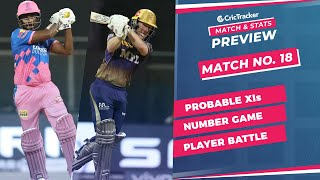 IPL 2021: Match 18, RR vs KKR Predicted Playing 11, Match Preview & Head to Head Record - April 24th