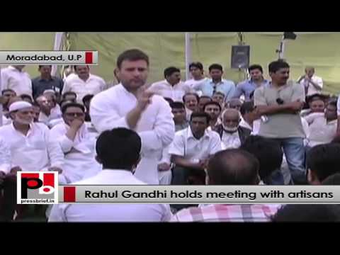 Rahul Gandhi to artisans - We will give you financial support as much as we can