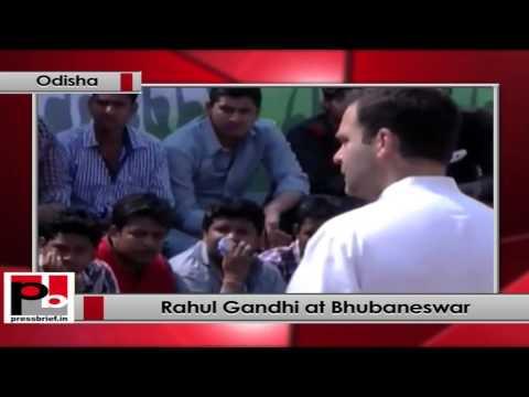 Rahul Gandhi interacts with students in Bhubaneswar, Odisha