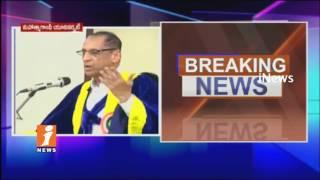Governor ESL Narasimhan Participate Mahatma Gandhi Convocation Ceremony In Nalgonda | iNews