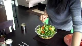 Chickpea recipe, chickpea salad, Chana Masala variation