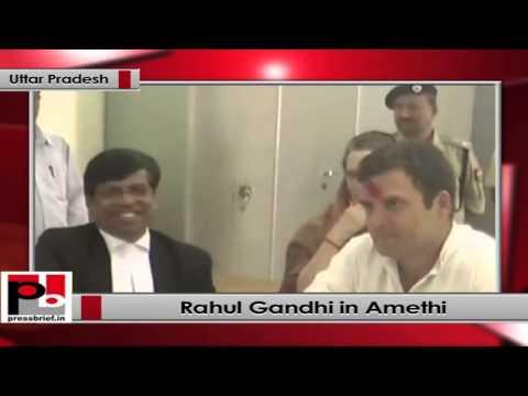 LS polls- Rahul Gandhi files nomination from Amethi; Sonia Gandhi, Priyanka Gandhi also present