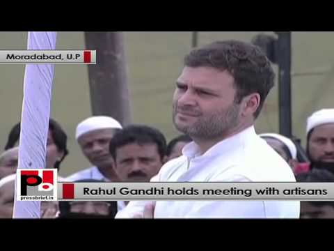 Rahul Gandhi to artisans - I want to solve your issues
