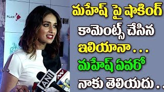 Ileana D'Cruz Shocking Comments About Mahesh Babu Ileana D'Cruz Latest Updates Top Telugu Tv