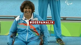 Watch- Deepa Malik wins silver in the Women's Shot Put at Rio Paralympics