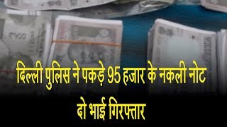 दिल्ली पुलिस ने पकड़े 95 हजार के नकली नोट, दो भाई गिरफ्तार