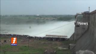 Flood Water Increased In Manair Dam | 20 Gates Lifted | Telangana Government | iNews