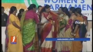 MP Kavitha Speech On Women Empowerment At National Women's Parliamentarian Meetings | iNews