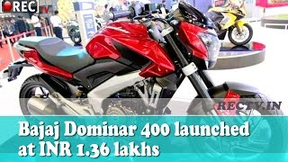 Bajaj Dominar 400 launched at INR 1.36 lakhs - Latest automobile news updates