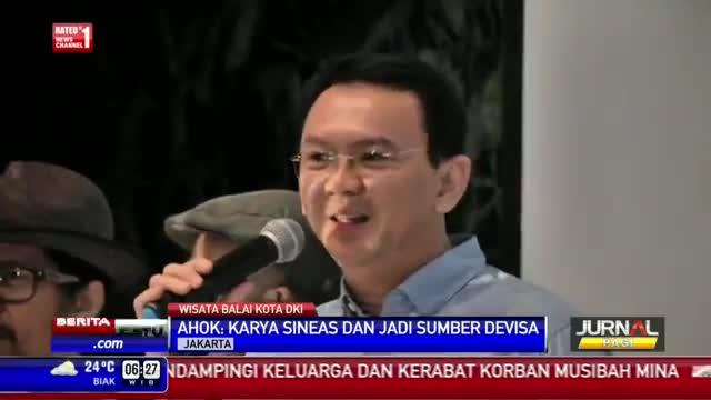 Ahok Nonton Bareng Film Indonesia di Balai Kota