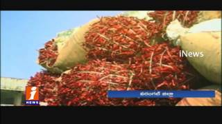 Brokers Cheats Mirchi Farmers At  Market Yard | Warangal | Telangana | iNews