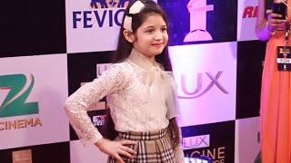 Harshaali Malhotra Cute Looks On Zee Cine Awards 2016 Red Carpet