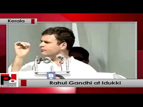 Rahul Gandhi at Idukki, Kerala takes on BJP, CPM