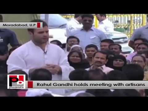 Rahul Gandhi to artisans - I want to hear out your issues