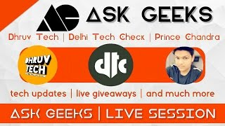 #askgeeks12 Live QnA with Dhruv And Nash