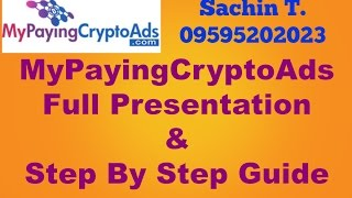 Make Money with 'mypayingcryptoads.com' [MPCA] full Hindi presentation &  sign up step by step guide