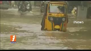 Chennai Floods Cause Heavy Water On Roads | iNews
