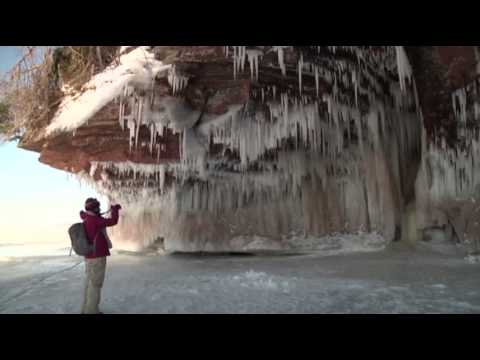 Spectacular Ice Caves on Lake Superior News Video