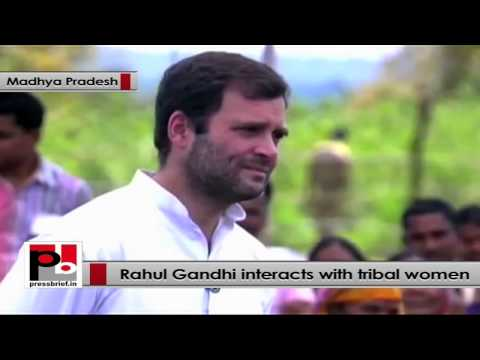 Rahul Gandhi to tribal women - Congress has given Right to Food to everyone
