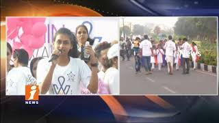 Cancer Walk For Awareness On Cancer In Necklace Road | Hyderabad | iNews