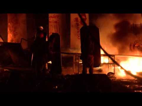Raw- Kiev Clashes Continue As Deadline Looms News Video